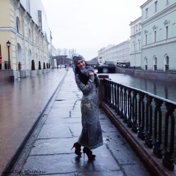 Серый тюрбан чалма купить пальто фото