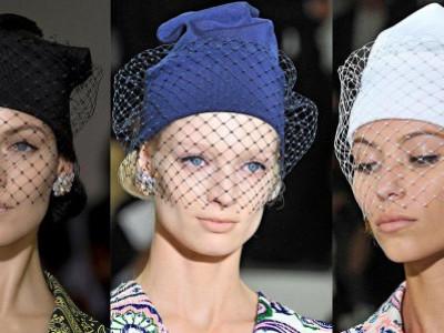 Маленькая шапочка с вуалью от Jil Sander