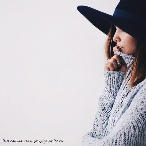 Широкополые шляпы на девушках фото