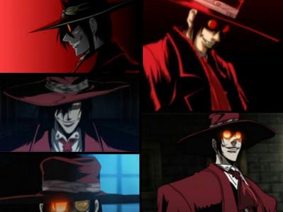 Красная широкополая шляпа. Косплей Алукард Хелсинг на клиенте Алексее