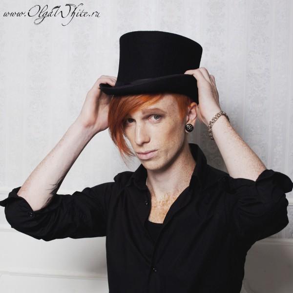 Купить шляпу-цилиндр черный фетровый в интернет-магазине шляп Спб