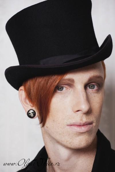 Купить шляпу-цилиндр-мужской фетровый черный в интернет-магазине в Спб