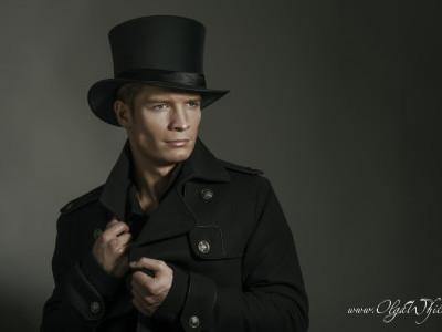 Атласный цилиндр с блеском - шелковая мужская шляпа