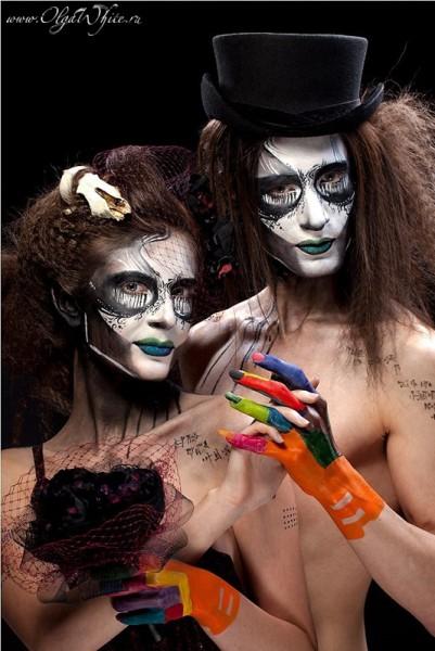 Шляпа цилиндр на вечеринку halloween. Вуалетка для девушки. Готические образы с черепом