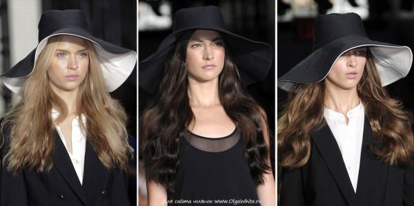 Черные широкополые шляпы