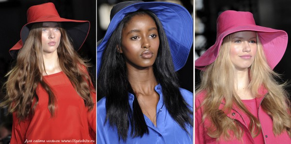 Красная, синяя, розовая шляпы
