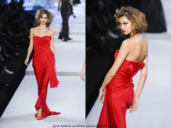 Украшение в прическу к красному платью