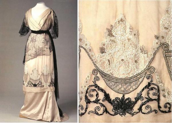 Вышивка на платьях 19 века 34
