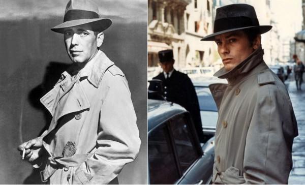 Гангстерский стиль - Богарт и Ален Делон в шляпах