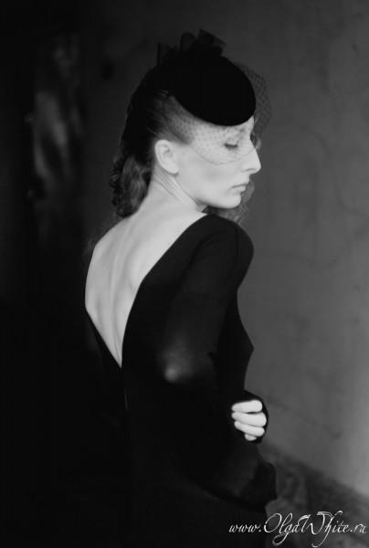 Черная вечерняя шляпка-таблетка с вуалью. Купить в Санкт-Петербурге