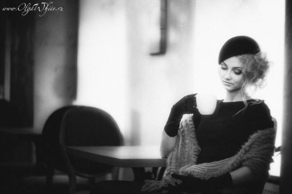 Черная женская шляпка-беретка. Купить модный ретро-берет