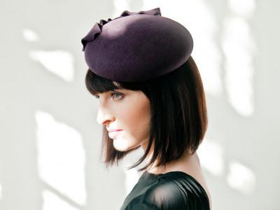 Модная шляпка - фетровый женский берет