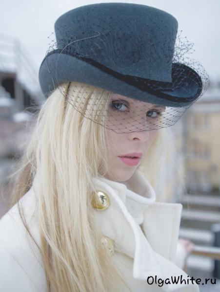 Серый цилиндр купить женский шляпа амазонка с вуалью