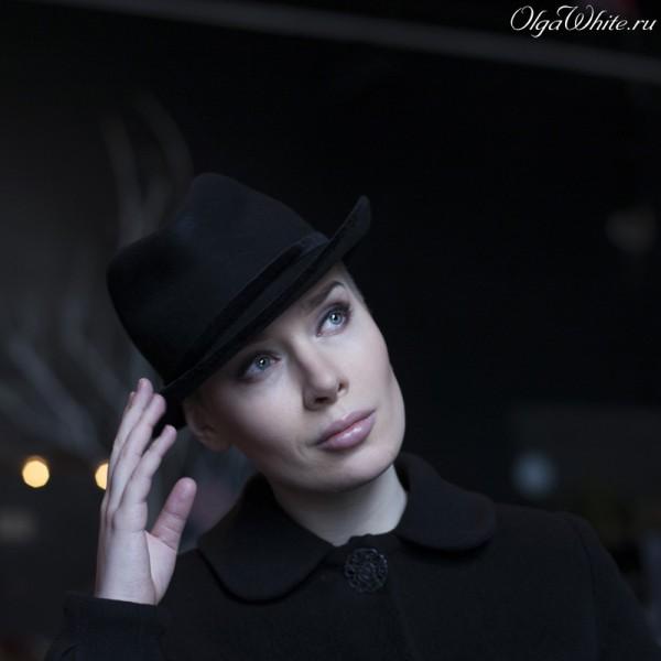 Черная женская шляпа в стиле Чикаго. Купить в Санкт-Петербурге