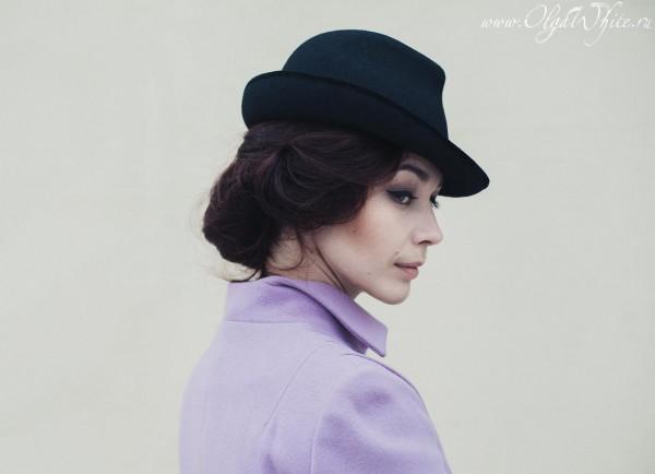 Черная женская фетровая шляпа. Купить в интернет-магазине шляп