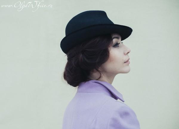 Фетровая женская черная шляпка. Купить в интернет-магазине шляп
