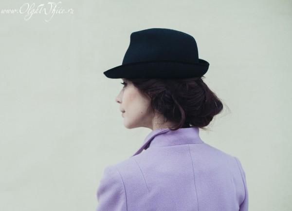 Классическая черная женская шляпка