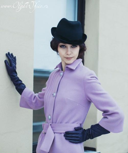 Черная женская фетровая шляпка классической формы Федора