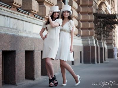 Белый свадебный женский цилиндр