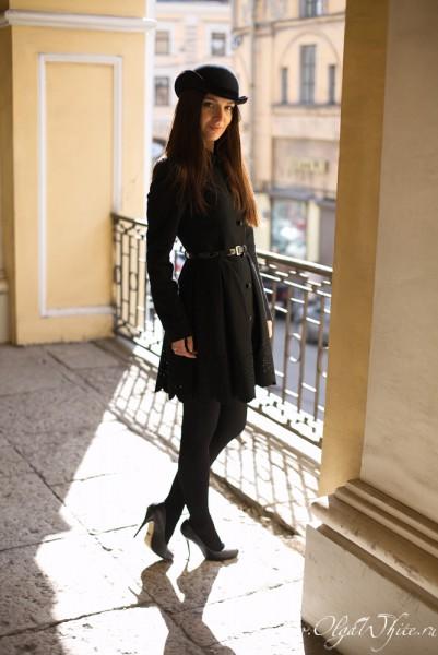 Женская шляпа - черный котелок купить