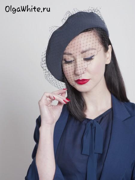 Берет с вуалью Dior купить шляпу