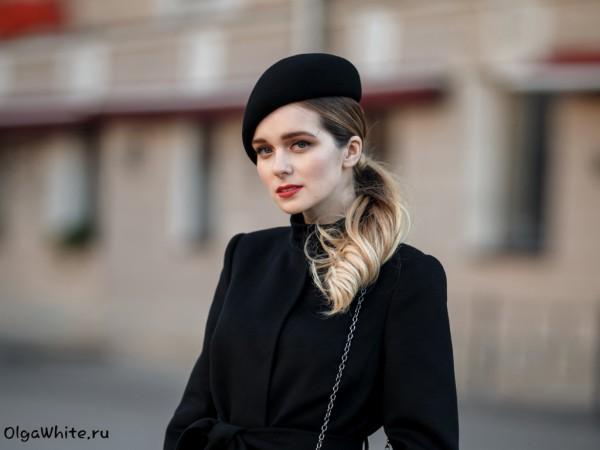 Черный женский модный берет купить шляпу