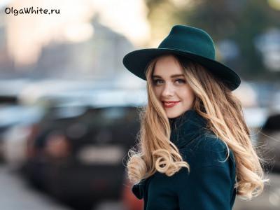 Зеленая фетровая широкополая шляпа с прямыми полями. Одна широкополая шляпа - два образа