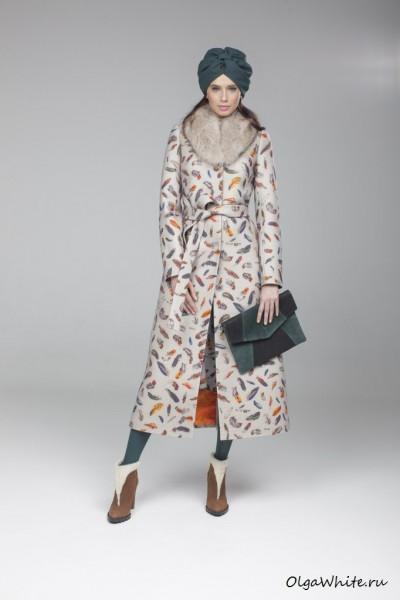 Зеленый тюрбан-чалма купить. Съемка коллекции пальто Модного Дома Екатерины Смолиной