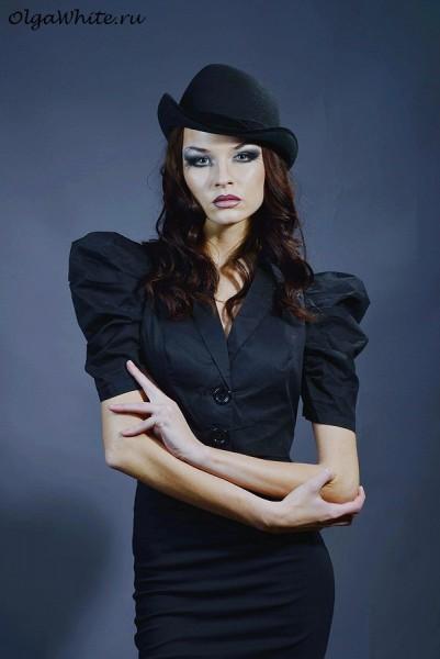 Фетровая шляпа женская купить Спб Черная шляпка