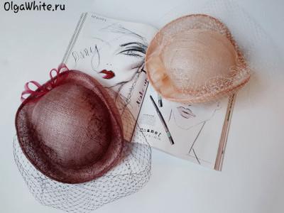 Летняя шляпа купить Женская свадебная шляпка котелок с вуалью
