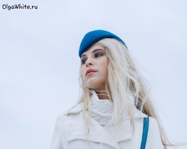 С чем носить фетровую шляпу Пилотка синяя купить