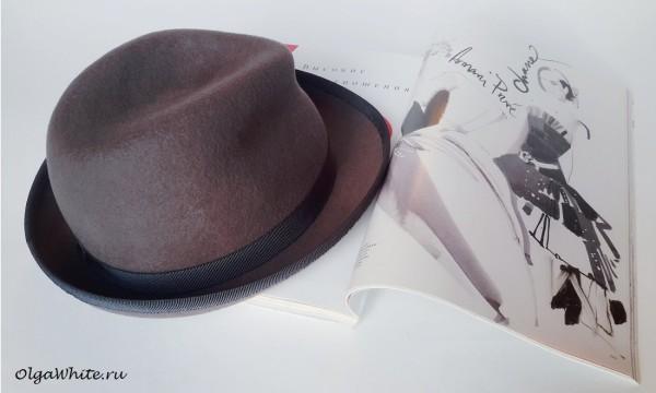 Серая шляпа федора женская