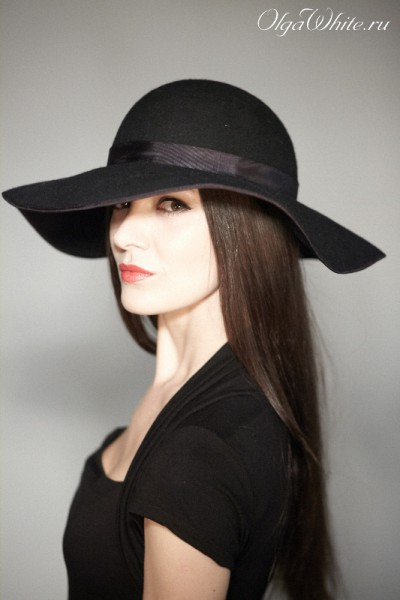 Широкополая шляпа фетровая Купить Спб черную шляпу с широкими полями