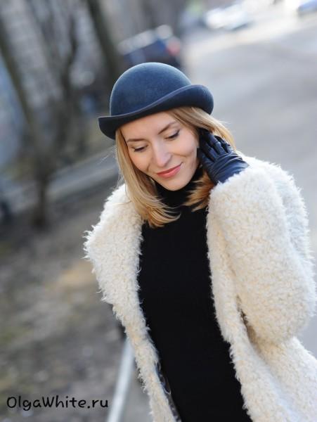 Шляпа фетровая серая котелок купить