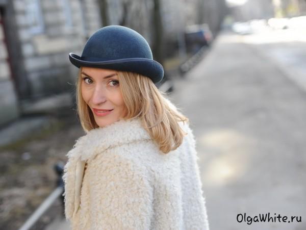 Фетровая серая женская шляпа котелок купить