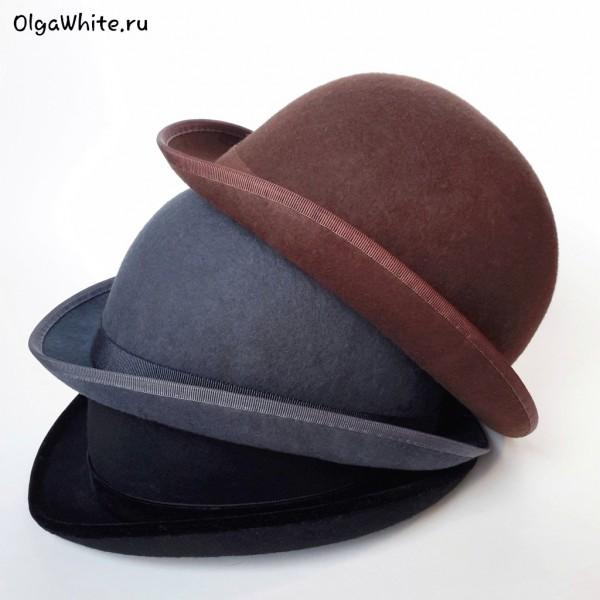 Шляпа котелок купить спб модный серый коричневый