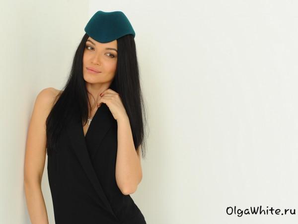 Шляпка цвета морской волны бирюзовая Купить фетровую шляпу пилотку