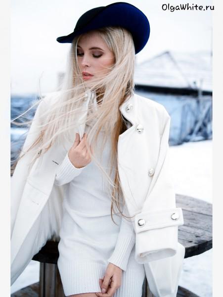 Синяя фетровая женская шляпка модная купить