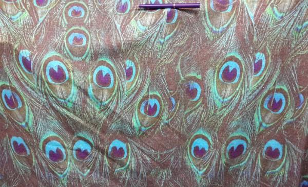 Павлиньи перья Ткань для тюрбана чалмы