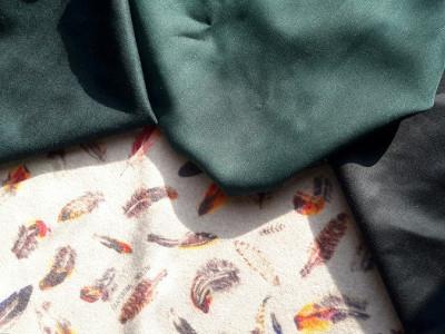Ткань для тюрбанов - цвета шерсти