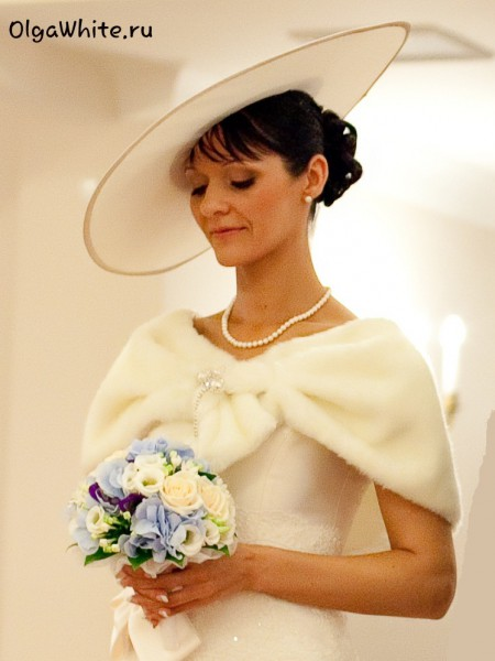 Свадебная широкополая шляпа принцессы Дианы купить заказать